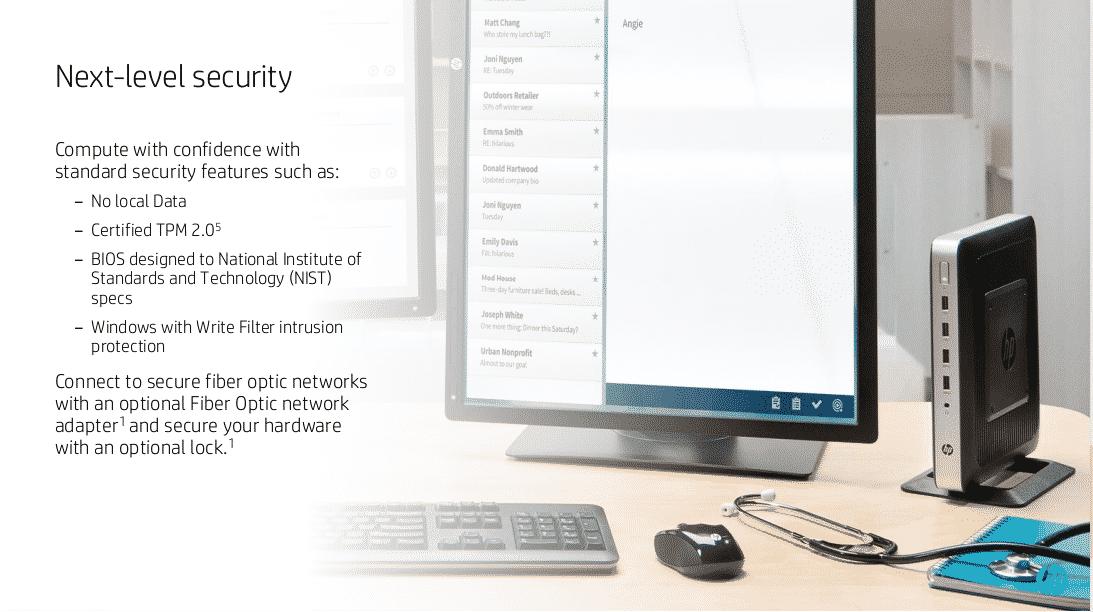 2016 HP VMworld t630 sales presentation on HP thin client